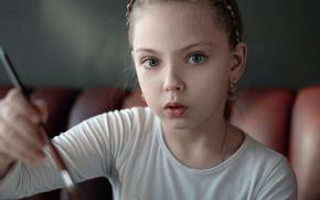 Картинка девочка, творчество, кисть