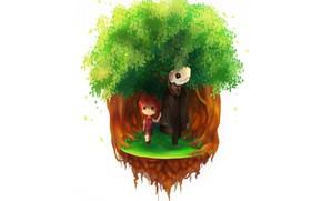 Картинка девушка, дерево, аниме, арт, чародей, Mahou Tsukai no Yome, Невеста чародея