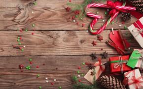 Картинка Новый Год, Рождество, подарки, Christmas, wood, Merry Christmas, Xmas, gift, decoration