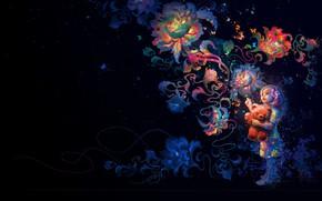 Картинка цветы, настроение, арт, Mira, Wei Wang, детская. мечта