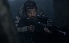Обои cinema, taichou, captain, gun, Star Wars, rifle, Rogue One: A Star Wars Story, Diego Luna, ...