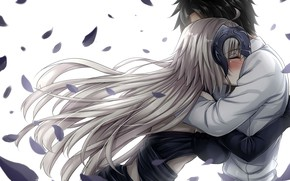 Картинка романтика, аниме, арт, двое, обнимашки, fate grand order