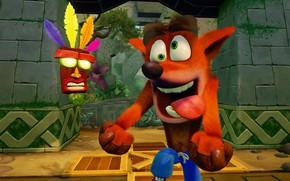 Картинка game, vegetation, Crash Bandicoot N. Sane Trilogy, Crash Bandicoot Remastered