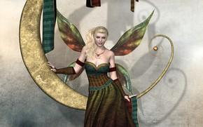 Картинка девушка, крылья, фея