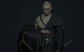 Картинка воин, арт, щит, The Warrior, Jordan Knight