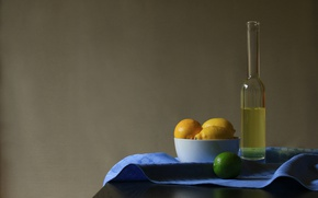Картинка стиль, лимон, бутылка, лайм, лимонад