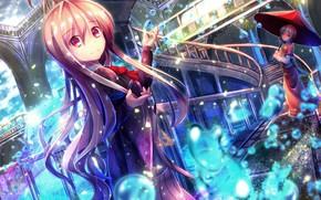 Картинка девочки, зонт, аниме