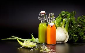 Картинка сок, напиток, зелень, овощи