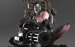 Обои маска, Marvel, щит, череп, Captain America, злодей, комиксы, Капитал Америка