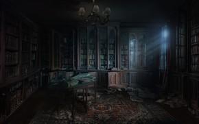 Обои библиотека, library concept, andrii shafetov, комната