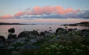 Картинка море, побережье, Норвегия, Norway, Skadbergsanden