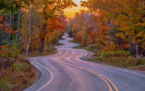 Обои Красота, Осень, Дорога