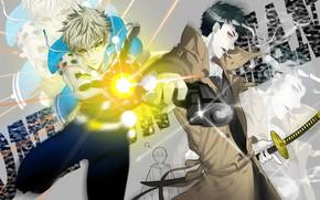 Картинка аниме, арт, парни, киборг, One Punch Man, Генос