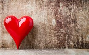 Картинка любовь, сердце, red, love, heart, wood, romantic