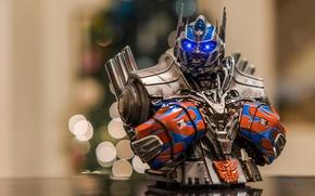 Картинка макро, фон, игрушка, Optimus Prime