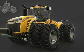 Картинка трактор, Farming Simulator 17, mt9700