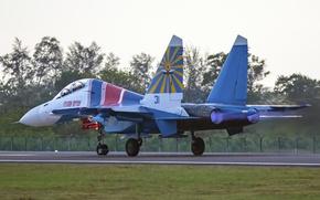 Картинка кабина, аэродром, взлет, Су-30СМ, Фланкер