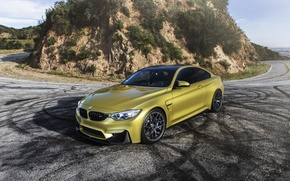 Обои BMW, F82, Yellow