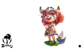 Картинка настроение, арт, девочка, викинг, segun samson, Zarra