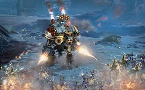 Обои fight, war, armor, gun, Warhammer 40000, Warhammer 40k, Dark Queen, Warhammer 40.000, Warhammer 40.000 Dawn ...