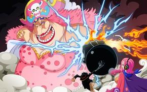 Картинка fire, skull, flame, game, One Piece, pirate, hat, anime, kombat, fight, punch, manga, japanese, spark, …