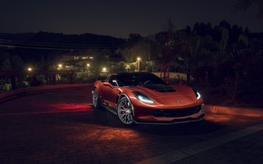 Обои Sport, KARTUNZ, Chevrolet, Z06, Corvette, Front, Car