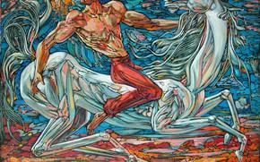 Картинка лошадь, 2008г, Айбек Бегалин, Жулдыз, (Звезда), накаченый