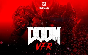 Картинка red, blood, game, soldier, marine, Bethesda, Doom, Doom VFR