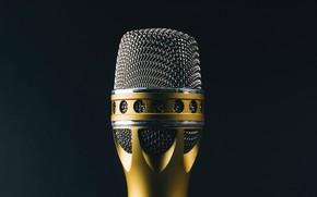 Обои пение, макро, фон, микрофон