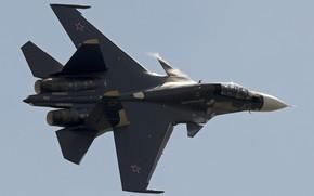 Обои истребитель, полёт, Су-30СМ