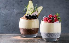 Картинка малина, завтрак, черника, мята, десерт, ежевика, rice, йогурт, pudding, Natasha Breen, porridge, chia