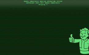 Картинка Монитор, Fallout, Bethesda Softworks, Bethesda, Дисплей, Bethesda Game Studios, Vault Boy, Vault-Tec, Волт-Бой, Бетезда, Волт-Тек, ...