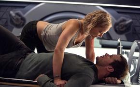 Обои Jennifer Lawrence, Пассажиры, Крис Пратт, Chris Pratt, Дженнифер Лоуренс, Passengers