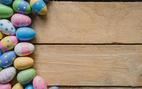 Картинка яйца, весна, colorful, Пасха, wood, spring, Easter, eggs, decoration, Happy, tender