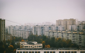 Картинка city, trees, apartments
