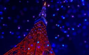 Картинка фон, Tokyo tower, Телевизионная башня Токио