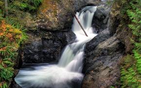 Картинка Водопад, Скалы, Waterfall