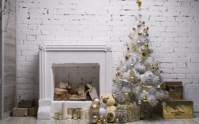 Картинка Новый Год, Рождество, merry christmas, interior, decoration, christmas tree, holiday celebration