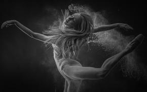 Обои девушка, экспрессия, танец