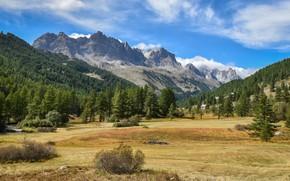 Обои равнина, горы, пейзаж