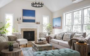Картинка диван, мебель, подушки, гостиная