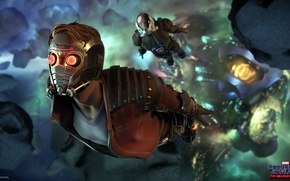 Картинка space, game, Marvel, mask, Guardians Of The Galaxy, Marvel's Guardians Of The Galaxy - The …