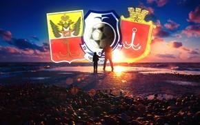 Обои Футбольный Клуб, Логотип, Свет, Причал, Черно - синий, Синий, Одесса, Море, Мужчина, Ребенок, Моряки, Клуб, ...