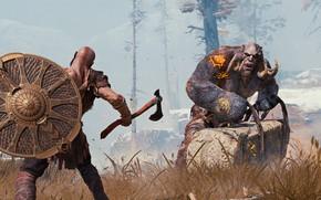 Картинка skull, game, Kratos, God of War, troll, viking, warrior, PS4, God of War 4, god …