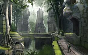 Картинка путешественник, сооружения, Jungle Ruins