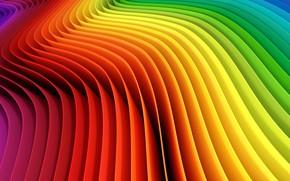 Обои background, colored, wavy, колор, abstract, абстракция, фон, радуга, Rainbow
