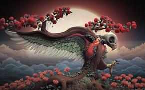 Картинка цветы, рендеринг, роза, Tree of Life, Mark Van Haitsma