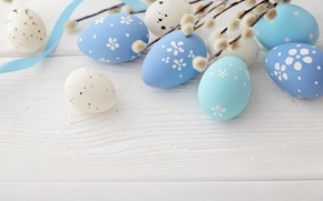 Обои Пасха, blue, верба, Easter eggs, Happy Easter, spring, eggs