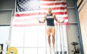 Картинка woman, flag, training, crossfit