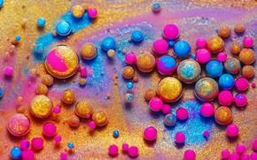 Картинка шарики, краски, объем, флуоресценция
